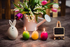 Eggs candle for easter Royalty Free Stock Photos
