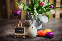 Eggs candle for easter Stock Photo