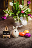 Eggs candle for easter Stock Images