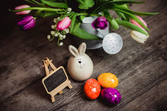 Eggs candle for easter Royalty Free Stock Images