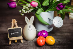 Eggs candle for easter Royalty Free Stock Image