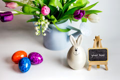 Eggs candle for easter Stock Photography