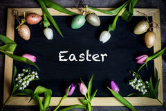 Eggs candle for easter Stock Image
