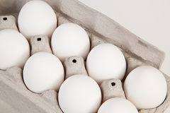 Eggs in cardboard container Royalty Free Stock Photography