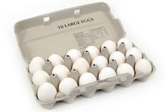 Eggs carton Royalty Free Stock Images