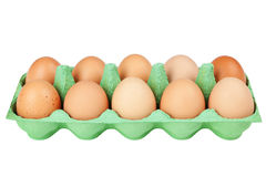 Eggs in a carton Stock Photos