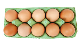 Eggs in a carton Royalty Free Stock Photo