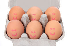 Eggs on Carton Stock Photography
