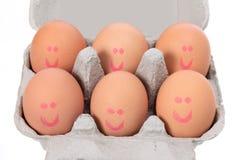 Eggs on Carton Stock Photography