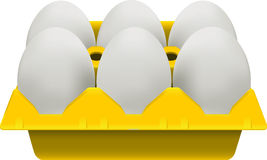 Eggs carton Stock Image