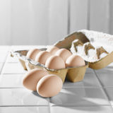 Eggs and Carton Royalty Free Stock Photo