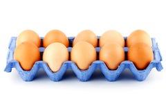 Eggs in carton box Royalty Free Stock Photos
