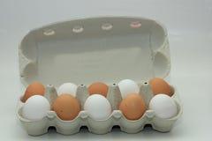 Eggs in a carton box Royalty Free Stock Photos