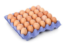 Eggs in a carton isolated Royalty Free Stock Photo