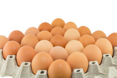 Eggs in a carton isolated Royalty Free Stock Photography