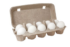 Eggs in a case Stock Images