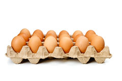 Eggs in the cassette box Royalty Free Stock Photos