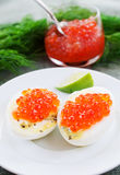 Eggs and caviar Royalty Free Stock Photography