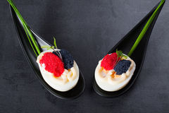 Eggs with caviar. Royalty Free Stock Photo