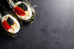 Eggs with caviar. Stock Images