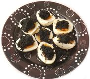 Eggs with caviar Stock Photography