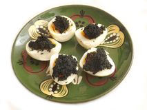Eggs with caviar Royalty Free Stock Photography