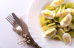 Eggs celery salad Stock Photo