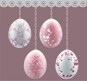 Eggs on chains Royalty Free Stock Photos