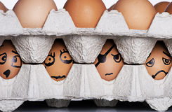 Eggs character Royalty Free Stock Photos