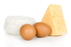 Eggs and cheese Stock Photos