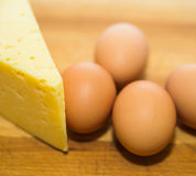 Eggs and cheese Stock Photo