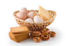 Eggs, Cheese, Pastry Royalty Free Stock Images