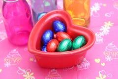 Eggs of chocolate Stock Photography