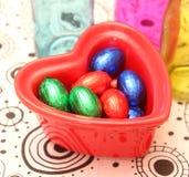 Eggs of chocolate Stock Photo