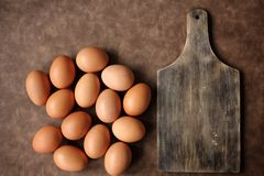 Eggs with chopping Stock Image