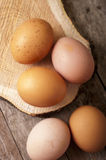 Eggs close up Stock Photo