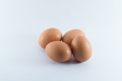 Eggs. Closeup group of eggs on white background Royalty Free Stock Photography