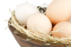 Eggs closeup Stock Photography