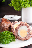 Eggs coated with ground meat roasted Royalty Free Stock Images