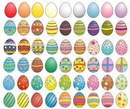 Eggs collection. Colorful variety of eggs collection vector illustration