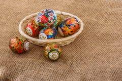 Eggs a composição de easter Fotos de Stock