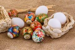 Eggs a composição de easter Foto de Stock
