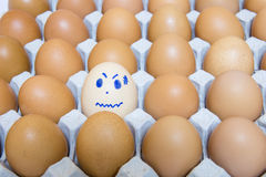 Eggs is consumed worry. Stock Photo