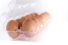 Eggs container Royalty Free Stock Images
