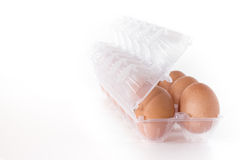 Eggs container Stock Photography