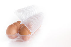 Eggs container Royalty Free Stock Photography