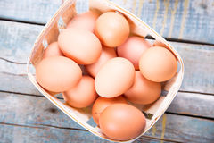 Eggs in container Royalty Free Stock Photography