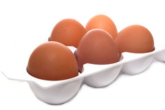 Eggs in a container Stock Photo