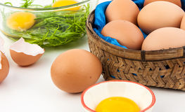 Eggs for cook. Egg can use for many kind of food Royalty Free Stock Photo
