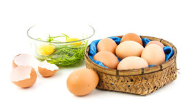 Eggs for cooking. We can use egg for many kind of food Royalty Free Stock Photo